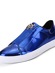 Herren-Sneaker-Büro Lässig Sportlich-Tüll-Flacher AbsatzGold Schwarz Silber Blau