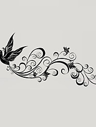 Personality Black Flying Birds Silhouette Wall Stickers Creative Bathroom Glass Wall Decals