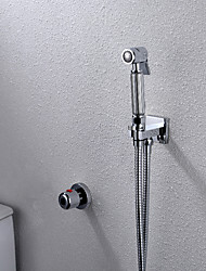 Contemporáneo Colocado en la Pared Con Termostato with  Válvula Latón Sola manija Dos Agujeros for  Cromo , Bidet grifo