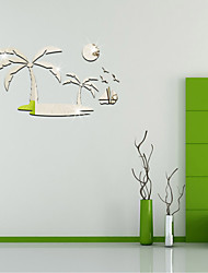 Coconut Trees  DIY Mirror Wall Stickers Home Decoration Wall Decal