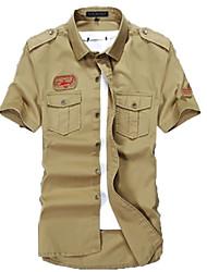 Summer shirt male military shirt cotton frock slim size uniform shirt male summer outdoor leisure