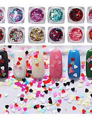 12pcs Manicure jewelry Symphony sequins - small love Nail Art Decoration