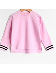 Girl Casual/Daily Solid Hoodie & Sweatshirt,Cotton Fall