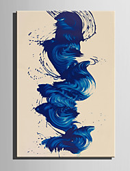 E-HOME Oil painting Modern Blue Curve Fancies Pure Hand Draw Frameless Decorative Painting