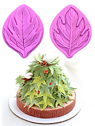 Maple Leaf Pattern  Candy Fondant Cake Molds  For The Kitchen Baking Molds