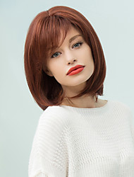 Side Bang Short Pixie Silky Straight Bob Human Hair Wig