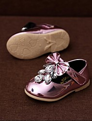 Mädchen-Flache Schuhe-Outddor Lässig Sportlich-LederKomfort-Rosa Champagner