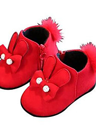 Girl's Flats Comfort Leather Outdoor Casual Athletic Black Red Running