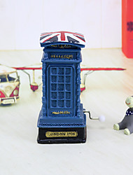 1 PC  The postbox hand music box UK building model with piggy bank crafts gift ornaments