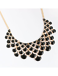 Necklace Choker Necklaces Pendant Necklaces Chain Necklaces Jewelry Party Daily Casual Circle Circular Design Alloy Women 1pc GiftBlack