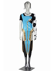 Inspiré par Overwatch Symmetra Vidéo Jeu Costumes de Cosplay Costumes Cosplay Cosplay Hauts / Bas Mosaïque Noir Bleu DoréManteau Haut Bas