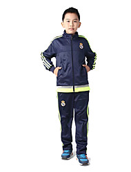 Kid's Soccer Clothing Sets/Suits Breathable Comfortable Spring Fall/Autumn Winter Solid Terylene Football/Soccer Dark Blue