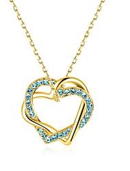 Women's Pendant Necklaces AAA Cubic Zirconia Zircon Gold Plated Simulated Diamond Alloy HeartUnique Design Dangling Style Rhinestone