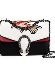Women Shoulder Bag PU Outdoor White Black