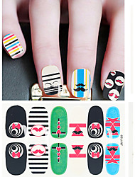 10pcs/lot  Nail Sticker Color Random