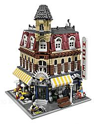 Cafe children's educational building blocks assembled