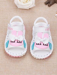 Girls' Baby Sandals Comfort Leather Athletic Casual Outdoor Running Comfort White Blushing Pink Flat