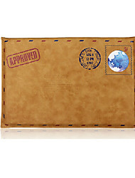 For MacBook Air Pro 13.3 Sleeve Simple Leisure Retro Envelope Style Notebook Bag Solid Color PU Laptop Sleeves Universal