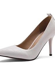 Women's Heels Spring Summer Fall Other PU Wedding Office & Career Dress Stiletto Heel Others Black White Burgundy
