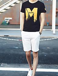 2017 été nouveaux hommes&t-shirt à manches courtes en coton mince col rond T-shirt des hommes de # 39;&t-shirt à manches courtes,