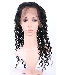 360 laço frontal humano onda profunda cabelo virgem 8-20inch de boa qualidade para as mulheres