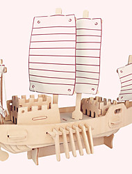 Jigsaw Puzzles Wooden Puzzles Building Blocks DIY Toys Russian Boat 1 Wood Ivory Model & Building Toy