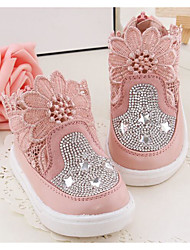 Girl's Flats Comfort Leather Outdoor Athletic Casual Pink White Running