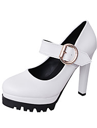Women's Heels Spring Summer Fall Club Shoes Leatherette Outdoor Office & Career Dress Stiletto Heel Bowknot Black Green Pink Walking