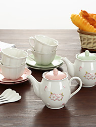 A Set Of Slap-Up Atmospheric Family Entertainment Ceramics Tea set SEVEN-PIECE Cup Teapot