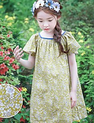 Girl's Casual/Daily Floral Dress,Rayon Summer Short Sleeve