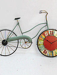 E-HOME® Color Wheel Bicycle Metal Wall Clock One Pcs