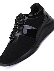 Masculino-Tênis-Conforto Solados com Luzes-Rasteiro-Preto Dourado-Tecido-Para Esporte