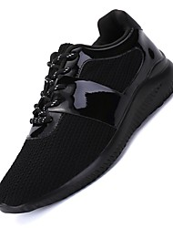Femme-Sport-Noir Or-Talon Plat-Confort-Chaussures d'Athlétisme-Tissu