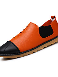 New Men Leather Shoes Comfort Novelty Outdoor Office & Career Casual Flat Heel Ruffles Lace-up Recommended To Buy A Larger Size