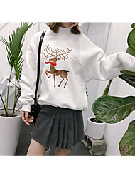 Sign Institute deer embroidery stitching hedging sweater 2 color