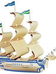 Пазлы Деревянные пазлы Строительные блоки Игрушки своими руками Знаменитое здание Китайская архитектура Корабль 1 Дерево Со стразами