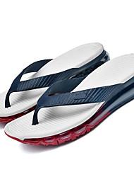 Men's Slippers & Flip-Flops Spring Summer Comfort Synthetic Outdoor Casual Low Heel Black Blue Silver