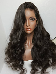 HOT Unprocessed 8-26 Inch 130% Density Virgin Brazilian Natural Color Wave  Factory Price Full Lace Wig Human Hair Full Lace Wigs