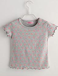 Tee-shirts bébé Imprimé Décontracté / Quotidien-Coton-Eté-Gris