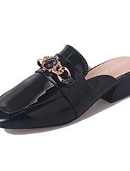 High Heels-Büro Kleid-PU-Blockabsatz-Komfort-Schwarz Grau