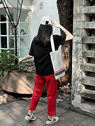 знак мультфильм распечатана с короткими рукавами футболки + талии хеджирование перерыв, чтобы сделать старый промытый керлинг колготок