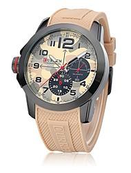 Sport Watch Wrist watch Quartz Silicone Band Brown Green
