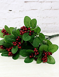 1 Bouquet  Red Fruit Fake Plant Festival Christmas Home Decoration Artificial Flower