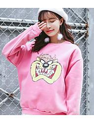 versão coreana grapefruit Siou sinal do desenho impresso camisola do cão cashmere