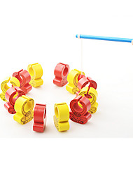 Fishing Toys Model & Building Toy Toys Novelty Toys Wood Red Yellow