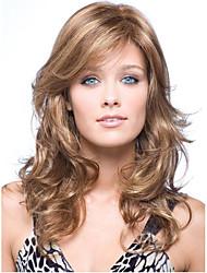 recém-chegados ondulado longo mix marrom menina perfeita europeu peruca de cabelo sintético