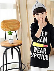 Girl Casual/Daily Print Blouse,Cotton Winter / Fall Long Sleeve Long