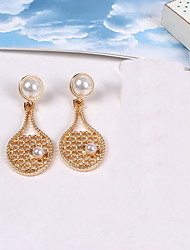 Non Stone Drop Earrings Earrings Set Jewelry Daily Casual Alloy Acrylic 1 pair Silver Yellow Gold