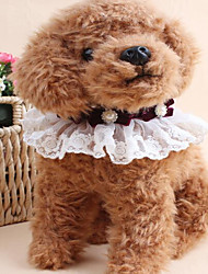 Pearl With A Bow Drill Collar Pet Princess Wind Scarf Accessories