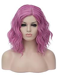 Mujer Pelucas sintéticas Sin Tapa Corto Rosa Peluca natural Peluca de fiesta Peluca de Halloween Las pelucas del traje